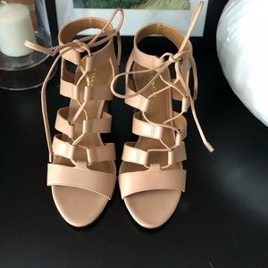 Coach nude heeled sandals size 6